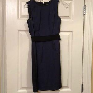 Ann Taylor belted color block dress